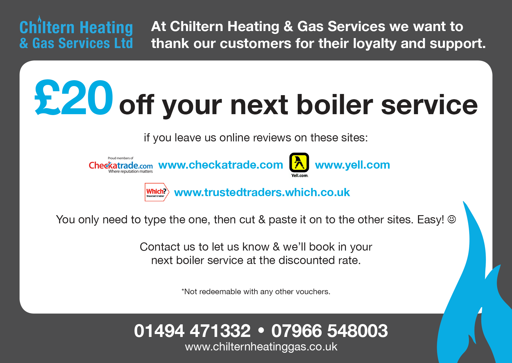 Boiler Service Review Voucher