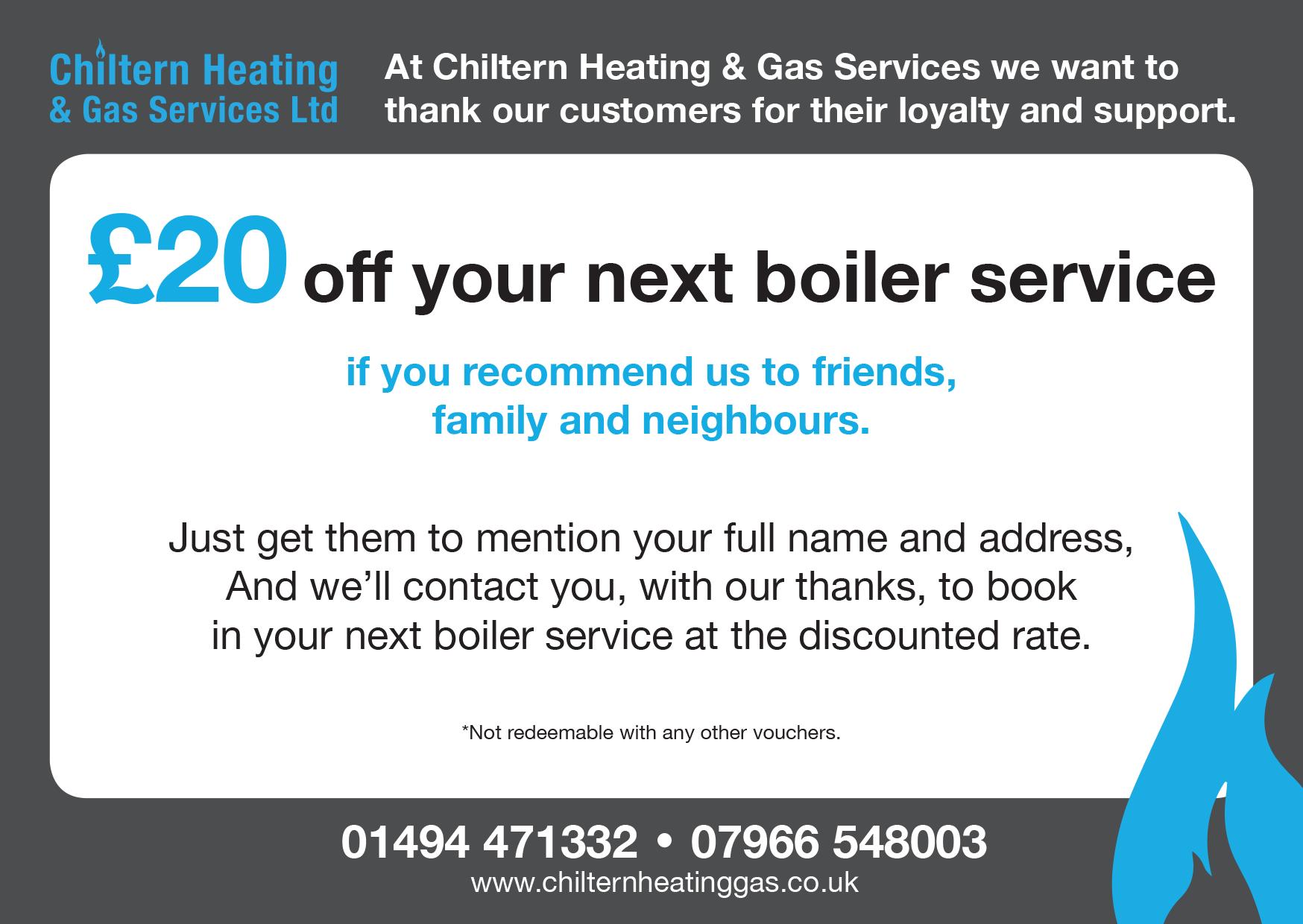 Boiler Service Recommendation Voucher