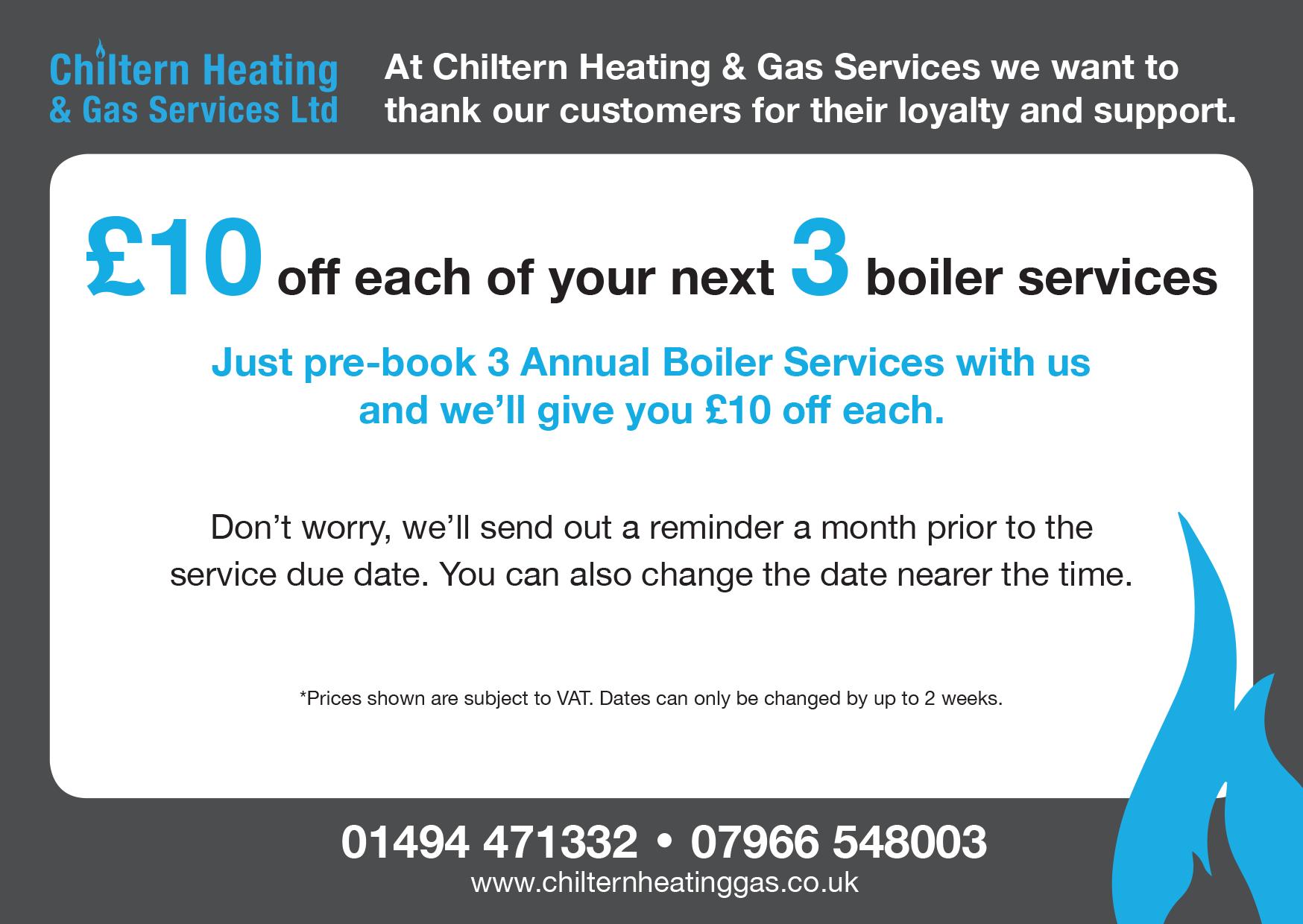 Boiler Service Annual Services Voucher